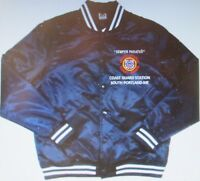 COAST GUARD STATION * SOUTH PORTLAND-ME*  EMBROIDERED 1-SIDED SATIN JACKET