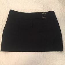 Guess Collection Vintage Black Mini Skirt Size 6  Career Womens Cute Sexy Nice!