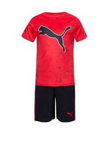 PUMA Little Boys 2-Pc Performance T-Shirt & Shorts Set Size 6