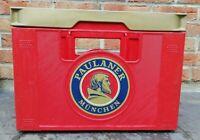 Caisse à bière, 20 Bouteilles, vintage, décoration, Paulaner Munchen