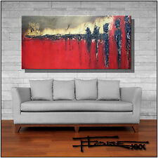 ABSTRACT PAINTING Modern CANVAS WALL ART Large Red USA  ELOISExxx
