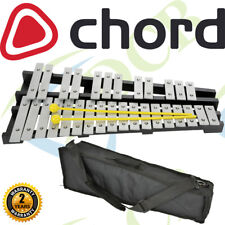 More details for 30 metal note engraved chromatic glockenspiel g5 to c8 range with bag instrument