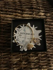 New in Box W/ tag ALEX AND ANI BRACELET 2017 BLACK FRIDAY SNOWFLAKE Gold tone