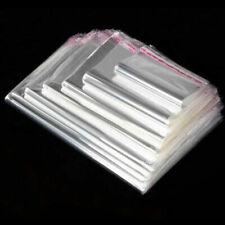 100 Pcs Clear Plastic Resealable Bags T Shirt Self Adhesive Bags Large Opp Bag