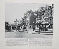 1896 LONDON PRINT WITH DESCRIPTIVE TEXT VIEW OF PARK LANE
