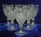 SIX VINTAGE WESTMORELAND ENGLISH HOBNAIL WATER GOBLETS - ROUND FOOT