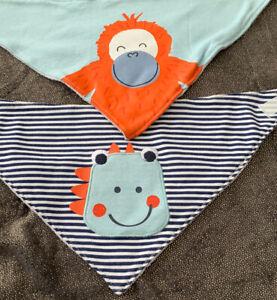 4 Baby Bibs / Bandanas, Animal , New, Free UKp&p