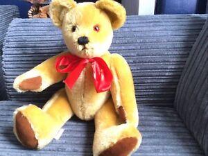 Big Softies Traditional Golden Mohair Teddy Bear.