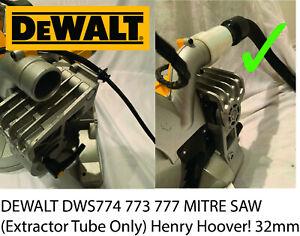 Dewalt DWS777  DWS774 DWS773 Saw Dust Bag  Extractor adaptor henry hoover 32mm