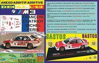 ANEXO DECAL 1/43 BMW M3 F.CHATRIOT T.DE CORSE 1988 4th (01)
