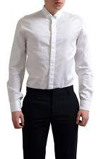 Giogio Armani Men's White Long Sleeve Dress Dress Shirts US 16 IT 41