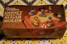 Disney Character Sugar Molds WILTON Cake Baking Decorating Craft 1972 Vintage