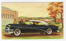 Buick Super Riviera Car 56-R 1955 Automobile advertising postcard