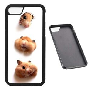 Cute Hamster Animal Lover RUBBER phone case fits iPhone
