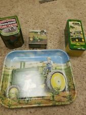 New listing John Deere Collectors lot Bank Tray Puzzle Canister
