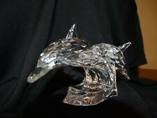 """Swarovski Dolphins,SCS,""""Lead Me"""" Annual Edition retired 1990,EXCELLENT condition"""