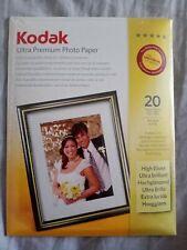 Kodak Ultra Premium Photo Paper High Gloss 4x6 inch. x20 Sheets. NEW & SEALED.