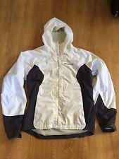 COLUMBIA Women's TITANIUM Omni-Tech WATERPROOF white ski jacket Youth 18/20 EUC