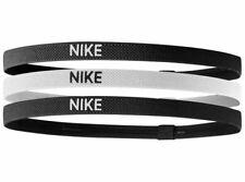 New 3 Pack Nike ELASTIC  Headband BLACK /WHITE