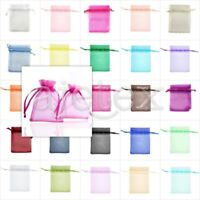 25/50/100/200pcs Organza Gift Candy Xmas Wedding Favour Bag Jewelry Pouch 7x9cm