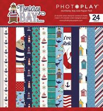"Photoplay Paper ""Monterey Bay"" 6x6 Paper Pad 24 Double-sided Sheets Nautical Sea"