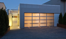 Full View [16' x 7'] Anodized Aluminum & Tempered Frosted Glass Garage Door
