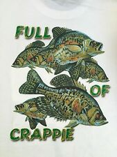 New Fish Head Gear Full of Crappie Pocketed T-shirt Angler Fisherman