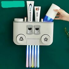 Multifunction Toothbrush Holder Storage Automatic Toothpaste Dispenser Accessory