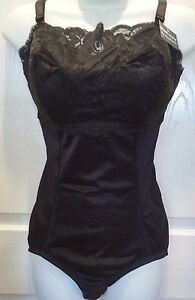 Instant Shaping Black/White Lace Front Body Shaper All in One Girdle Shapewear