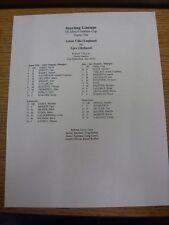 23/07/1999 Teamsheet: Gotham Cup Semi-Final - Aston Villa v Ajax [In New Jersey]