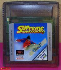 SUPREME SNOWBOARDING - Game Boy COLOR Spiel - gebraucht, Funktion getestet
