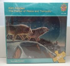 """Kim Norlien Moonlight Prowlers 500 Piece Puzzle 21"""" x 15"""" 866604 New Sealed"""