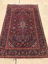 Traditional Persian Kashan Rug Fine Kork Wool Antique 5'x7' C.1940s