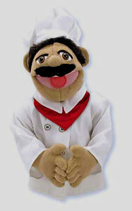 """15"""" CHEF PUPPET  Free Shipping in USA ~ Chef Pee Pee ~ Melissa & and Doug  #2553"""
