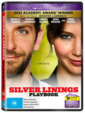 SILVER LININGS PLAYBOOK - NEW & SEALED DVD UV (BRADLEY COOPER JENNIFER LAWRENCE)
