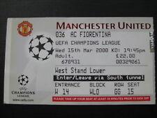 Manchester United v AC Fiorentina 15/03/2000 used ticket