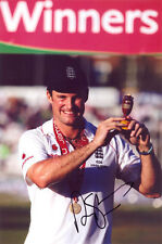 Andrew Strauss, England cricket captain, Ashes, signed 12x8 photo. COA. Proof.