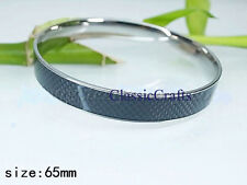 Fashion 316L stainless steel solid womens blue bangle bracelet