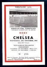 Reproduction Programme,Workington v Chelsea F.L.Cup 1964-65