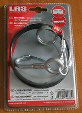 Anhänger Abreißseil (mit Haken und Ringen 1m) , Sicherungsseil für PKW-Anhänger