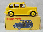 Dinky 40H / 254 Austin FX3 Taxi Yellow Brown Interior  Near Mint in Box