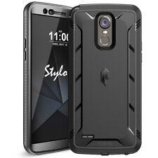LG Stylo 3 CasePoeticShockproofCoverwithScreenProtector Black
