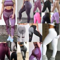 Women PUSH UP Yoga Leggings Fitness High Waist Gym Sports Pants Running Trousers