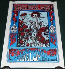 STANLEY MOUSE FAMILY DOG GRATEFUL DEAD SKELETON AND ROSES SIGNED LE LITHOGRAPH