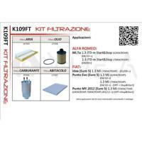 KIT 4 FILTRI TAGLIANDO LANCIA MUSA / FIAT IDEA 1.3 MJT 70KW 09->