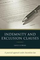 Indemnity and Exclusion Clauses, Brand New, Free shipping in the US
