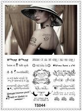 Loves Temporary Tattoo Sticker DIY Keep 3-5 days Waterproof 14x9cm TS044