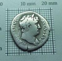 ROMAN imp. Hadrian 117-138 AD. Original Antique Coin SILVER AR Denarius # 0885
