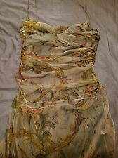 NWOT Ralph Lauren 100% Silk Spaghetti Straps Dress Size 12