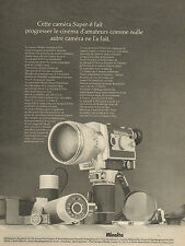 Publicité 1971  Minolta caméra Super - 8